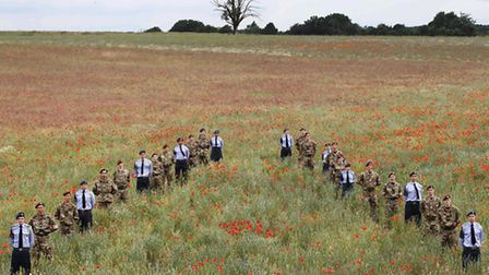 Air and Army cadets gather in Heartwood forest to launch the Woodland Trust project honouring First