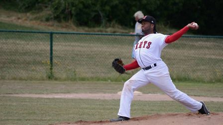 Jose Sosa pitched the first game against Bracknell. Picture: Paul Holdrick