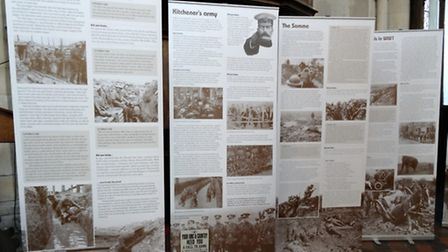 Some of the display boards compiled by the history group