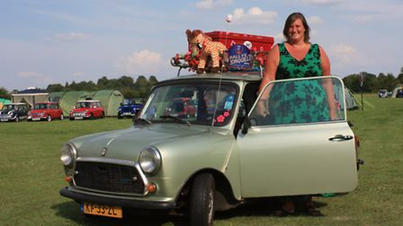 Victoria Ponser with her mini (Pic: Clive Porter)