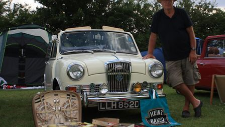 Steve Bourke with his 1966 Wolsey Hornet (Pic: Clive Porter)