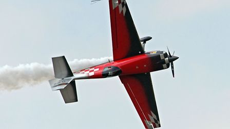 Mark Jefferies performing at the Little Gransden Air Show.