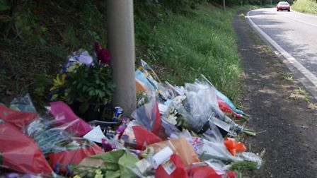 Floral tributes have been left at the scene where Jack Alexander, 20, died on July 17