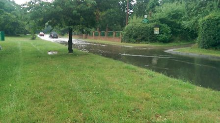 Flooding in Jersey Farm and Newgate Close