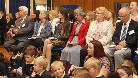 Guests at the opening of the new Samuel Ryder Academy primary school buildings