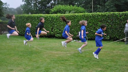 The King's School in Harpenden take part in the Jump Rope for Heart event