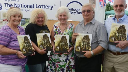 Eltisley History Society members (from left) Jean Lines, Tracey Sharpe, Mary Flinders, Geoff Sewell