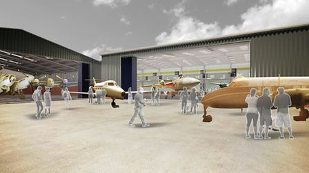 An artist's impression of the new hangar