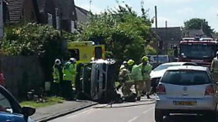 The crash ocurred between Kingsway and Selby Avenue in Royston. Credit: Lee Cook