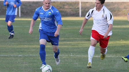 Action shots from London Colney's 2-2 draw with St Albans City U21s. Picture: James Whittamore