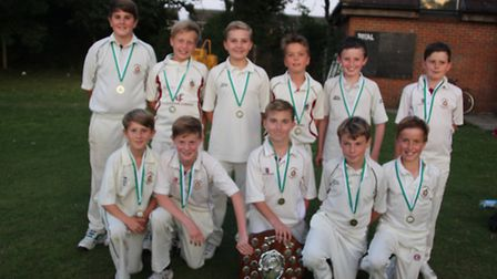 Harpenden CC's U11s are the Herts County Champions
