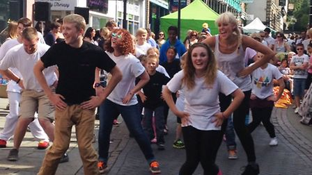 Visitors to Royston Summer Rock try their hand at dancing