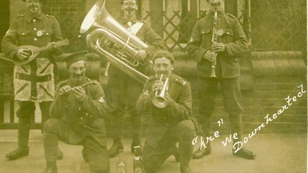 Hunts Cyclist musicians at Filey Camp, 1915. Picture: MR S FARRANT.