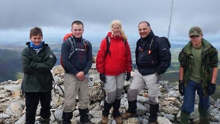 Bassingbourn air cadets and leaders reach Snowdon's summit