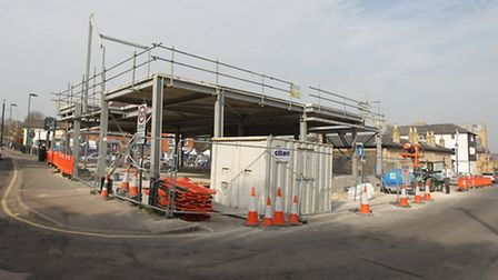 A Tesco Express is being built near Market Hill in Royston