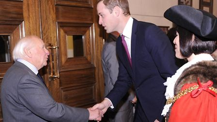 Prince William with Magpas founder Dr Neville Silverston.
