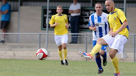 Elliott Buchanan celebrated signing for St Albans City with a goal in Saturdays 4-1 win over Ware in