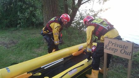Images from the training exercises at Cherry Hinton and Bucken Marina. Picture: CAMBS FIRE AND RESCU