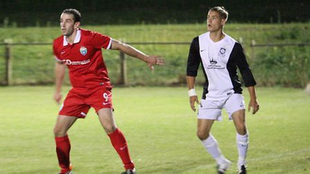 Action from London Colney's 3-0 loss to Kings Langley. Picture: Jim Whittamore