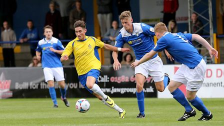 Sean Shields leaving the Stortford defense in his wake. Picture: Leigh Page