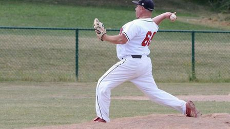 Derrin Ward pitched in place of Abel Salas in a 10-2 loss to Essex Arrows. Picture: Paul Holdrick