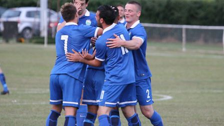 Action from London Colney's 5-0 Herts Charity Shield win over Hoddesdon Town. Picture: Jim Whittamor