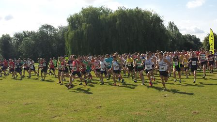 The start of the St Neots 10k.