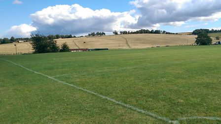 The site of Royston Hockey Club's proposed new all-weather pitch at Therfield Heath