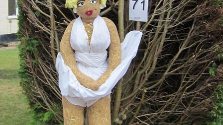 Flamstead Scarecrow Festival 2014: Marilyn Monroe moment. Photo courtesy of Paul McMahon