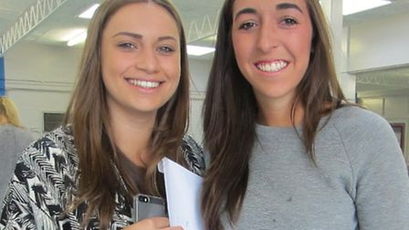 STAGS students Eden Maric and Issy Short were celebrating this morning