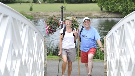 Godmanchester Mayor David Underwood, and his wife Wendy Underwood, on their Expedition