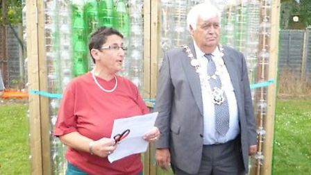 Mayor Geoff Harrison officially opened the greenhouse on Saturday (12)