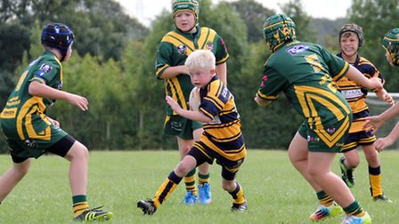 Action from Centurions' game with Goldborne Pirates.
