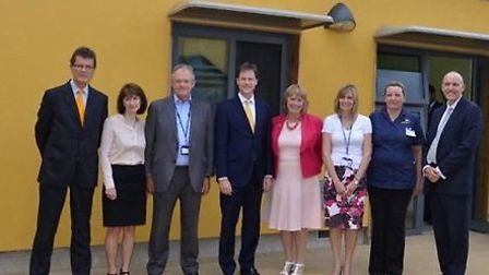 Deputy Prime Minister Nick Clegg has returned to St Albans to visit new mental health unit Kingfishe
