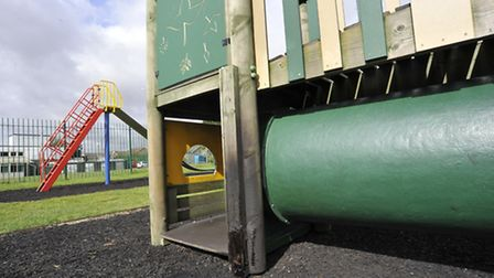 Arson attack at Green End Road playpark, Sawtry.