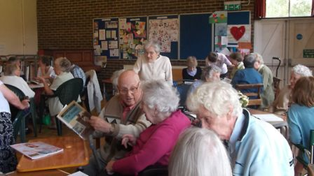 Elderly people took part in lots of activities during their 'holiday at home'
