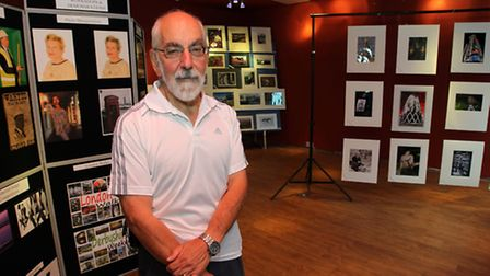 St Albans Camera Club member Michael Shaw in the pop up shop in Christopher Place