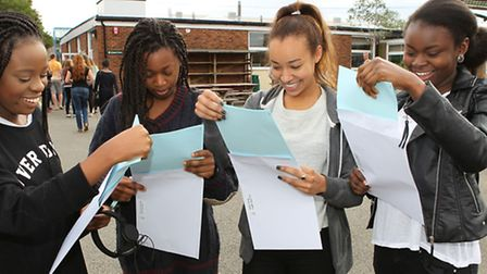Girls from St Georges open their A Level results