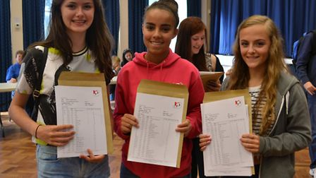Roundwood Park School's Rosie Archer, Ruby Plumb and Lucy Ackrill