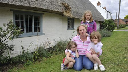Vhari Russell with her daughters (from l-r) Grace, Emily and Olivia.