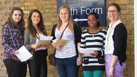 Staff and students at Samuel Ryder Academy in St Albans were overjoyed with this year's GCSE results