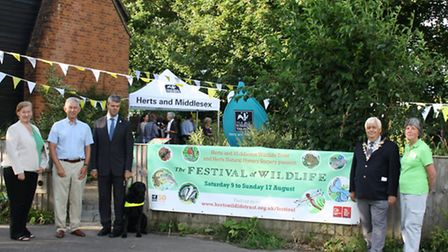 From left, Herts and Middlesex Wildlife Trust chief executive Lesley Davies and chairman Mike Master