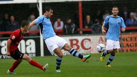 Steve Wales in action against Eastbourne Borough. Picture: Leigh Page