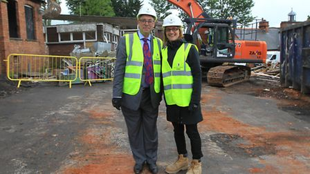 John Gibson, Headteacher pictured with Kate Watson, Director of learning