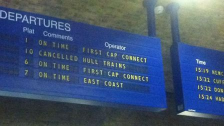 First Capital Connect displayed on the departure board