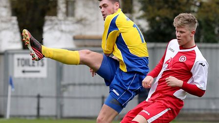 James Kaloczi clears the ball. Picture: Leigh Page