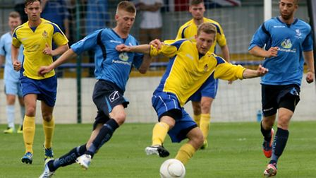 Danny Green fights for the ball. Picture: Leigh Page