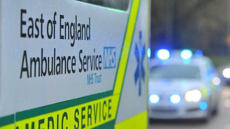 A man died in St Albans yesterday of a suspected heart attack