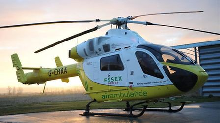 Essex Air Ambulance were called to attend the four-car collision.
