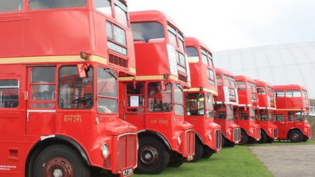 London Routemasters on display (Pic: Clive Porter)